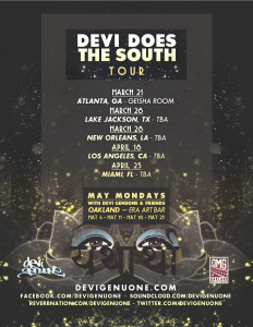 Devi Does South Tour poster